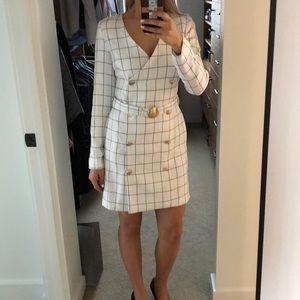 Chriselle x J.O.A. Plaid Blazer Sheath Dress